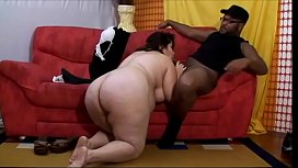Mature Brazilian roly-poly woman Estela enjoys when black gentleman removes the gun covers to poke her cunt