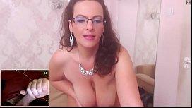 Beautiful and Sexy BBW Milf Masturbating and Watching Me Cum on Cam