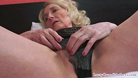 Randy mature grandma banged from behind
