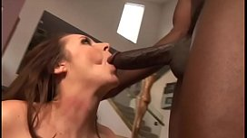 Mandy Sweet loves sucking on chocolate dick on the couch and fucking doggystyle