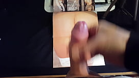 My solo 157 (Cumming a thick load on an old porn magazine)