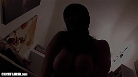 Masked MILF with Big Natural Tits! Homemade Cum Fetish &amp_ Huge Mom Boobs. Meaty Mature Pussy fucked and Two Jizz Loads Sucked out of hubby'_s balls.