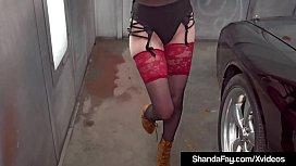 Canadian Cougar Shanda Fay Blows Her Husbands Hard Cock!