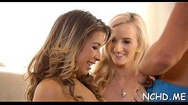 Tempting nubile seduces a gracious male interviewer