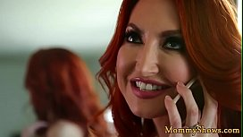 Redhead milf queened by cute stepdaughter