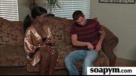 Beautiful masseuse pleasuring her client 28