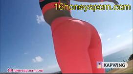 Yoga by naked teen at www.16honeysporn.com