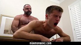 Young boy's ass broken and dominated by beefy daddies