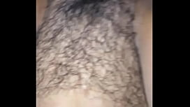 Filling Her Hairy Little Cunt With Cum