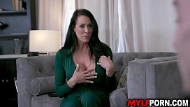 Super MILF Reagan Foxx gives her athlete stepson a hot titty fuck and wild dick ride and they both loved it until orgasm.