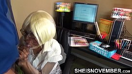 Fucked My New Black Secretary Missionary On Her Desk &amp_ Nailed Her Mouth Too, Face Fuck With Her Huge Saggy Titties Out And Glasses, Cute Geek Msnovember Hardcore Ebony Sex On First Day At Work on Sheisnovember