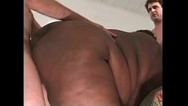 Big black woman takes takes three dicks at the same time