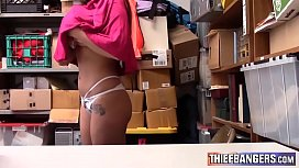 Busty Teen Thief Karlee Grey Gets Her Hairy Minge Punished By LP Officer