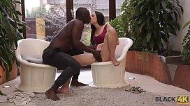 BLACK4K. Handsome black sportsman really loves tiny white pussy