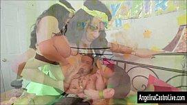 Angelina Castro BBW Birthday 3Way Treat!
