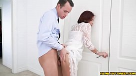Ryder Skye loving stepsons younger cock and makes him fuck her!