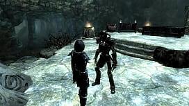 uma garota entra na caverna para aprender uma palavra de poder e o esqueleto vem e come ela