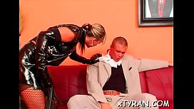 Submissive fellow gets abused in hot femdom fetish session