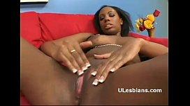 Big ass ebony lesbians fuck their black pussies same dildo