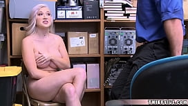 Pretty and skinny blonde chick gets fucked in the mall