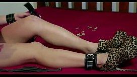 crazyamateurgirls.com - Selfbondage in Red Dress - crazyamateurgirls.com