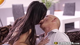 Stunning young latina ass fucked by mature deviant dick
