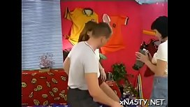 Playful cutie Heidi with great natural tits enjoys a wild sex