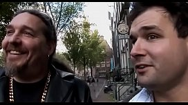 Aroused boy takes a tour in the amsterdam redlight district