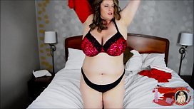 BBW Kimmie KaBoom Loves To Play With Her Twat on Valentine'_s Day! Giggling Ginormous Tits!!