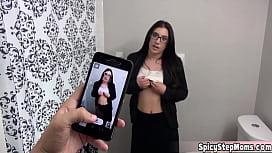 Pretty brunette MILF stepmother Alyssa Jade goes nasty