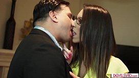 Horny milf seducing husbands employee