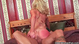 Blonde milf Dylan Riley gets fucked and facialized