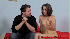 Dickriding euro submissive gets facialized