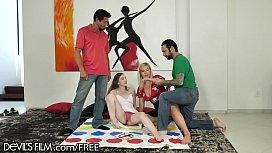 DevilsFilm Swingers Play Wife Sharing Twister !