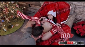 Very Tiny And Small Asian Teen Elf Doll Jasmine Grey Is A Christmas Gift For Lucky Guy