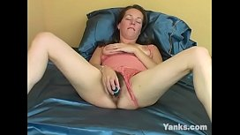 MILF August Toys Her Hairy Muff