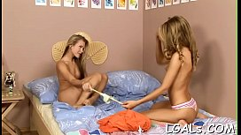 Relax in a company of 2 beautiful and wicked teen babes