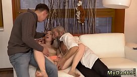 Rough daddy boss'_s daughter Unexpected experience with an older