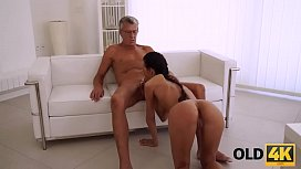OLD4K. Old daddy penetrates smoking-hot secretary in several poses