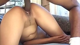 Good-looking Asian girl gets a big dick done .. but she does her best ....