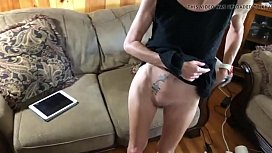 Skinny Wife Lifting Her Dress And Showing Off Her Shaved Pus