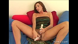 Sexy Electra Plays With Her Toys