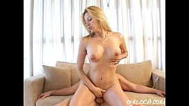 Horny blonde latina sucking and fucking hard her newly met friend