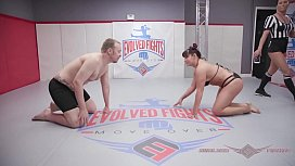 Jasmeen LaFleur mixed wrestling fight and after fuck pleasure