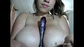 Hot milf teasing huge tits for free on cam