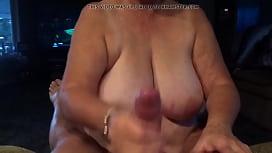 Big boob BBW Mature Sucking my cock