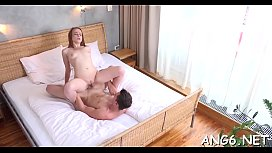 Hunk is pounding chick wildly after tasting her luscious pussy