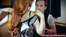 Gorgeous redhead babe gets cuckold