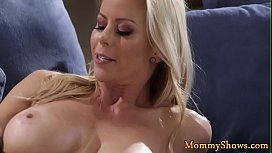 Alluring stepdaughter pussylicking a milf