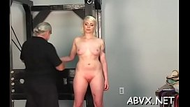 Large tits chick extraordinary bondage in slutty home scenes